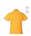 Classic Polo Insta dri Yellow Solid Slim Fit Polo Tshirt