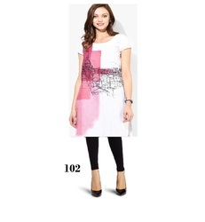 Fancy Long Crepe Kurti