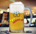 Frosted Printed Beer Mugs 16Oz