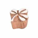 Flower Shape Wooden Henna Stamp