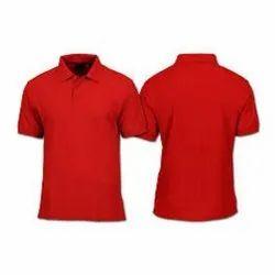 Cotton Plain Half Sleeves Collar T Shirt