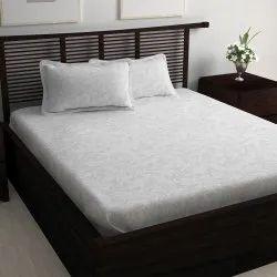 400 TC Jacquard Cotton Bedsheets, Size: 270 Cm x 270 Cm