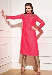 Ladies Casual Silk Kurtis