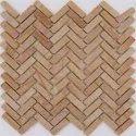 Capstona Stone Mosaics H P Teak Zig-zag Tiles