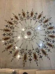 medallion marble inlay flooring