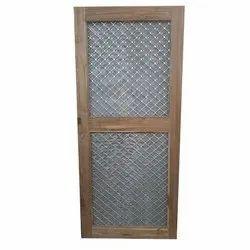 wood Mosquito Net Door