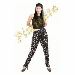 Printed Regular Fit Rayon Pants, Model Number: 001
