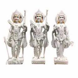 Designer White Marble Ram Darbar Statue