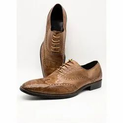 Male Lace Up Mens Brown Leather Shoes