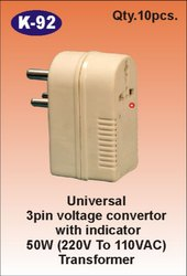 K-92 3 Pin Universal Voltage Converter