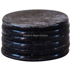 Expensive Black Marble 3.15 Inchs Tea Coaster