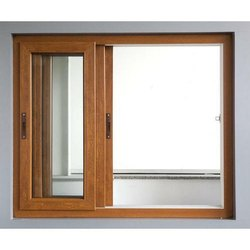 Polished Wooden Glass Sliding Window