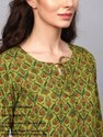 Floral Printed Straight Kurta with Palazzo & Dupatta Set