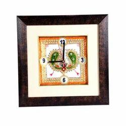 Marble Clock of Minakari Work Clock