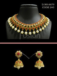 Traditional Bollywood Wedding Necklace Set