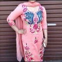 Ladies Pink Printed Kurti
