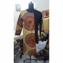 Round Neck Polyester african men shirts