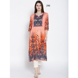 Traditional Digital Print Crepe kurti