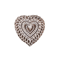 Heart Shape Wooden Printing Block