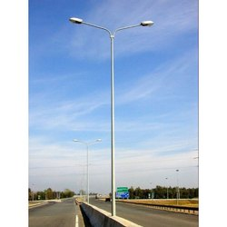 15-20 Feet Double Arm GI Street Lighting Pole