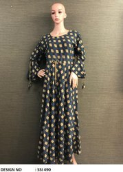 Western Stitched Casual Wear Gown