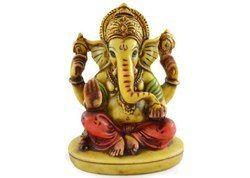 Handmade Hand Painted Lord Ganesha Resin Figurine Sculpture