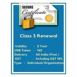 Class 3 ETENDER Digital Certificate Service
