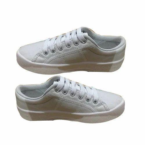 Mens White Canvas Shoes, Size: 6-9, Rs
