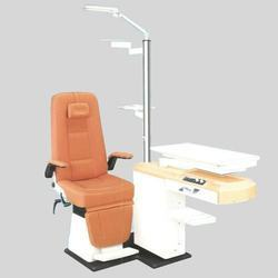 Refraction chair unit optical model with doctor stool and remote drum