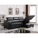 Black L Shape Sofa