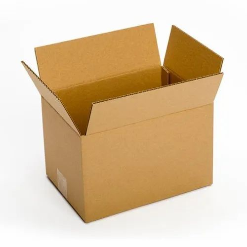 Sriyug Print Production 12x10x8 Inch Brown Packaging Corrugated 3 Ply Box, for Gift & Crafts