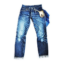 Tapered Fit Casual Denim Jeans, Waist Size: 34