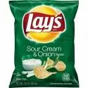 Sour Cream & Onion Lays Fried Potato Chips, Packaging Type: Packet