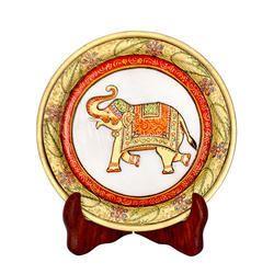 Elephant Print Marble Plate