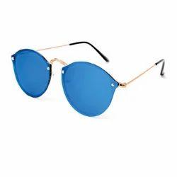 Panto Screw Wali Blue Mercury Sun Goggles