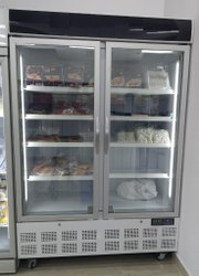 Commercial Double Door Upright Display Fridge