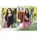Ladies Full Sleeve Pink & Black Suits