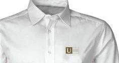 Cotton Men Embroidered Logo Shirt