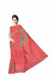 Kala Sanskruti Red And Green Color Fancy Design Banarasi Georgette Saree, With Blouse Piece, 5.5 m (Separate Blouse Piece)