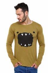 Dark Khaki Scoop Neck T-Shirt