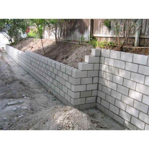 Concrete Block Garden Wall