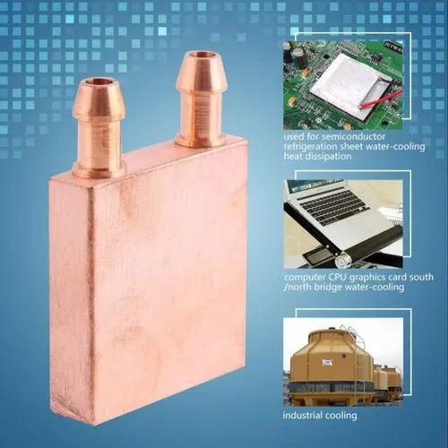 CentIoT Copper Water Cooling Block 40x40x12mm Liquid Cooler Waterblock  Radiator -GPU CPU Cooling