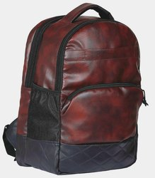 Synthetic Brown Laptop Bag