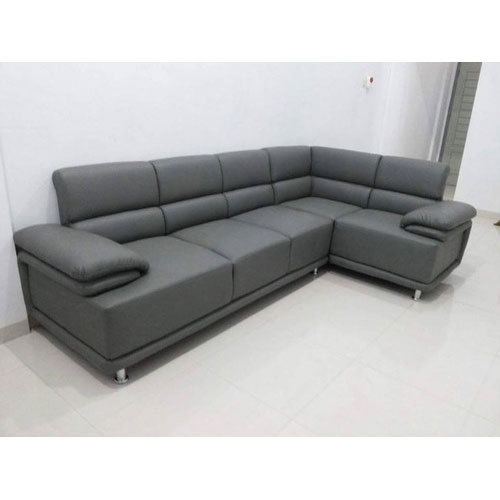 L Shape Grey Sofa Set