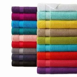 Assorted Colors Plain Divine Overseas Export Quality A Grade Terry Towels, 550-650 GSM, Size: Mixed