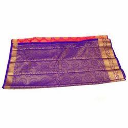Brocade Silk Printed Party Wear Saree
