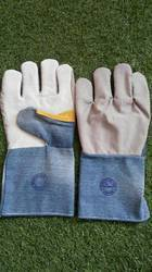Half Leather Jeans Hand Gloves