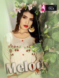 Melody Vol-1 Rayon Two Tone With Flair and Embroidery Work Designer Kurtis