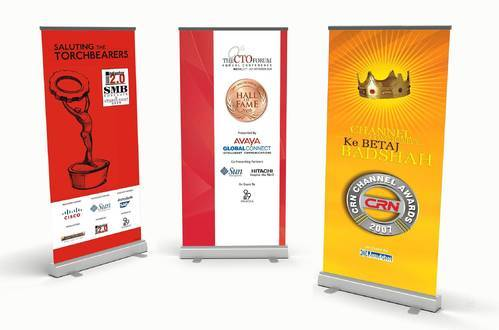 Roll Up Standees, Size: 6x3