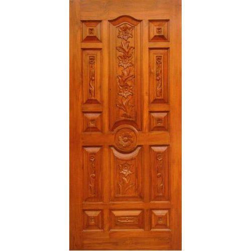 Teakwood door flat teak wood main door models designs for Main door model